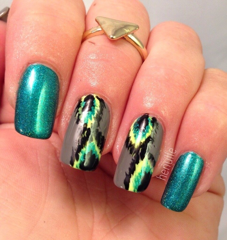 Ikat done with mllrdesign  nail art by Henulle