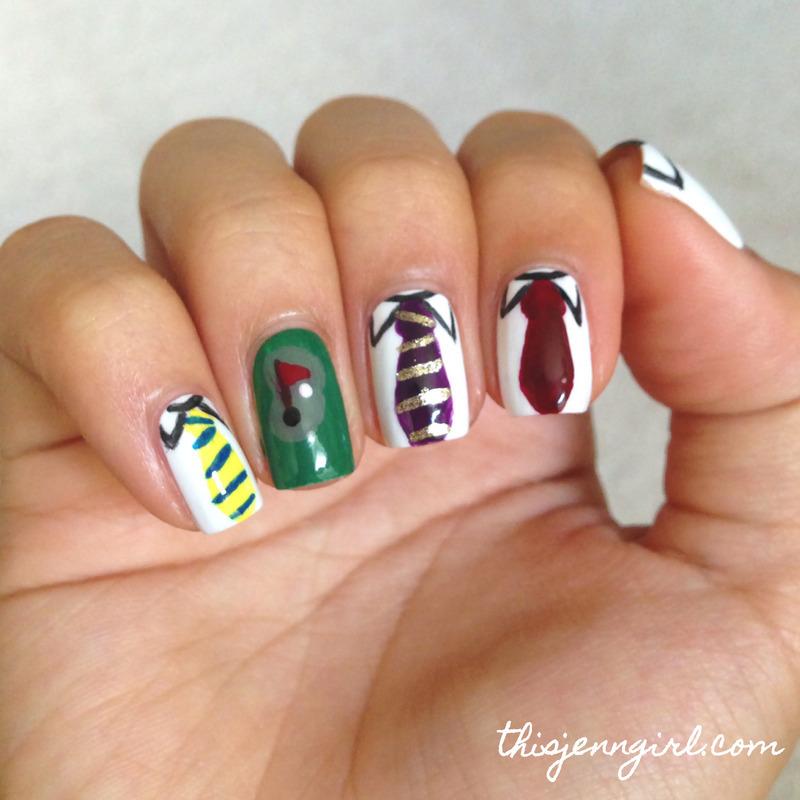 Father's Day Nails nail art by Jenn Thai