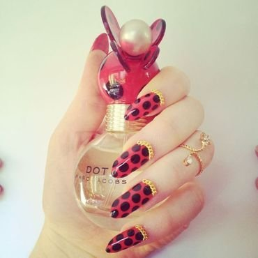 """Marc Jacobs """"Dot"""" nail art by nailicious_1"""