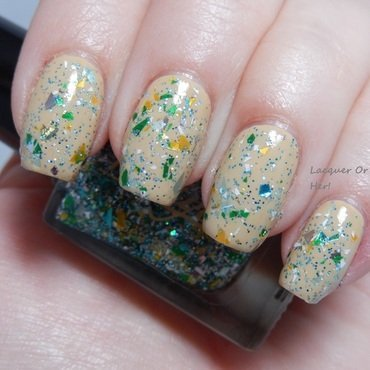 China Glaze kalahari kiss and Nayll Sea Glass Swatch by Lacquer or Leave Her! Michelle Chouinard