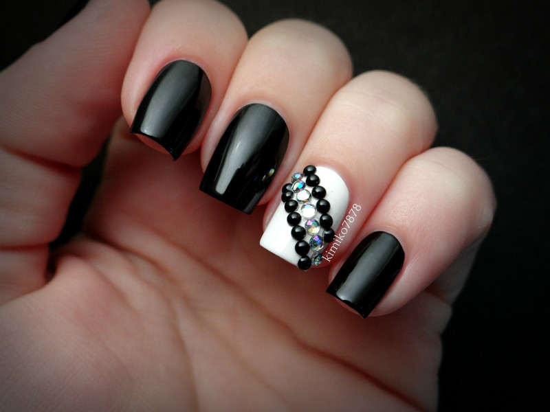 Elegant Studded Nail nail art by Kim