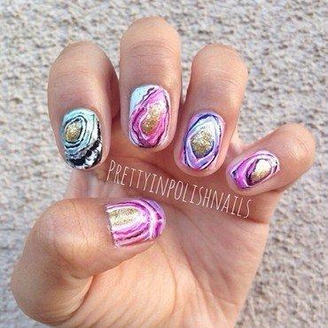 Agate Nails  nail art by Prettyinpolishnails