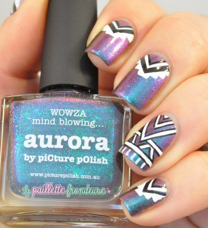 galactic tribal nail art by nathalie lapaillettefrondeuse