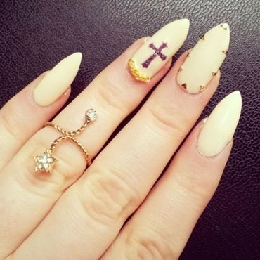 Religious nails nail art by nailicious_1