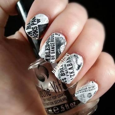Harry Potter Newspaper Nails nail art by Nailingtons