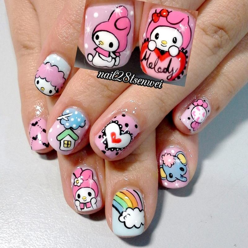 melody nail art by Weiwei