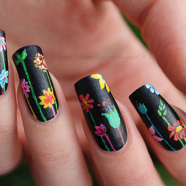In The Jungle nail art by Yue