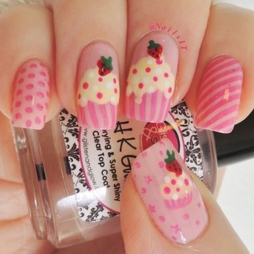 Cupcake nails nail art by NailsIT