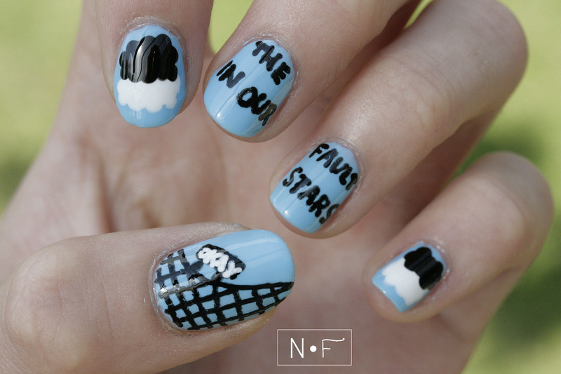 The fault in our stars nail art by NerdyFleurty