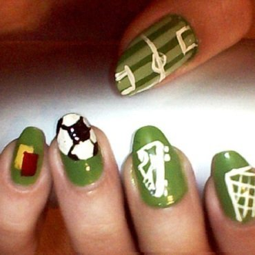 soccer2 nail art by Brankica