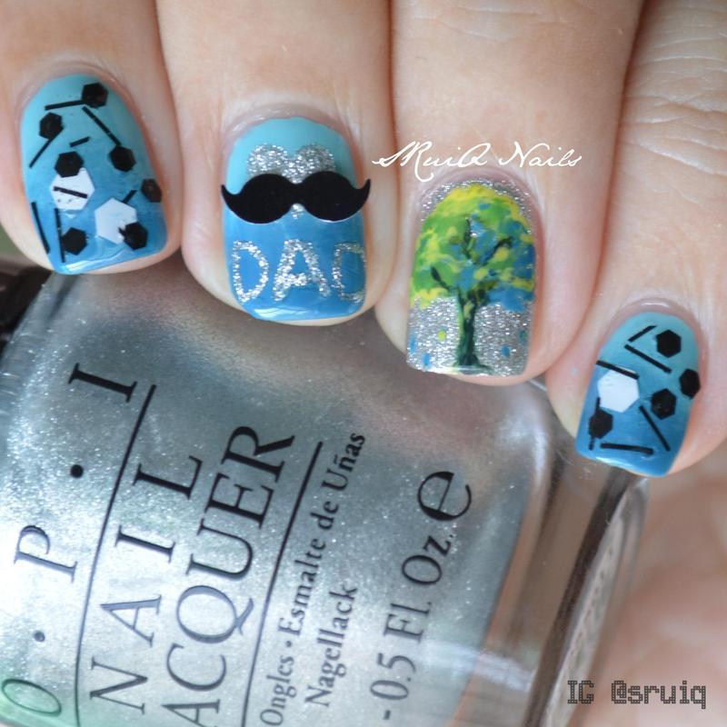 Love you, Dad! nail art by Sarah